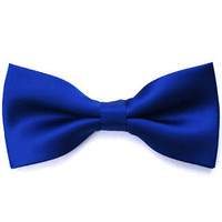 Tok Tok Designs Pre-Tied Bow Tie for Men & Teenagers (B16, Satin Blue)