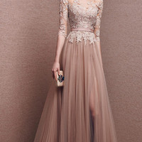 Elegant Prom Dresses,A-Line Prom Dresses,Long Evening Dress