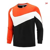 NIKE Autumn And Winter Fashion New Hook Print Men Long Sleeve Top Sweater 3#