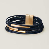 Multistrand Leather Bracelet