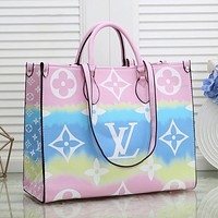 LV Louis Vuitton Gradient Printed Letter Shoulder Bag Messenger Bag Shopping Bag