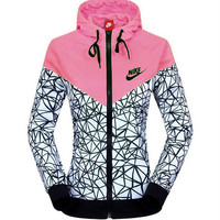 Men & Women Fashion Printed Hooded Zipper Cardigan Jacket Windbreaker [8563569671]