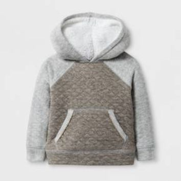 Toddler Girls' Quilted Hoodie - Cat & Jack™ Heather Gray