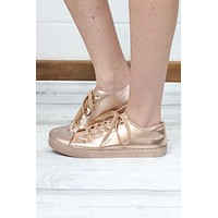 Solid Metallic Sneakers {Rose Gold}