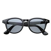 Retro Dapper P3 Key Hole Horned Rim Sunglasses 8308