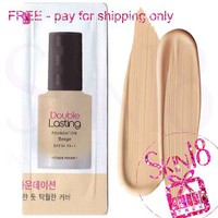 Freebies - Etude House Double Lasing Foundation Beige(SPF34 PA++)(Sample Pack)  *exp.date 04/20