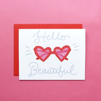 Hello Beautiful Heart Sunnies Card