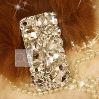 iPhone 4S Bling Case Bling iPhone 5 S Case for iPhone 5C Case iPhone 3 Case iPhone 4 Bling Case iPhone 3G Bling Case Cover Clear Crystal