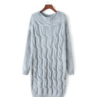 Long Sleeve Knit Long Sweater