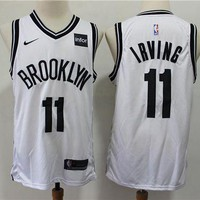 2019-2020 Brooklyn Nets 11 Kyrie Irving White Basketball Jersey DCCK