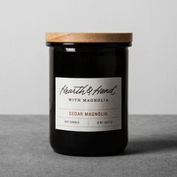 Lidded Jar Container Candle 8oz - Cedar Magnolia - Hearth & Hand™ with Magnolia