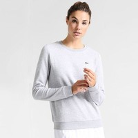 Lacoste Women's Fashion Casual Long Sleeve Top Sweater Pullover