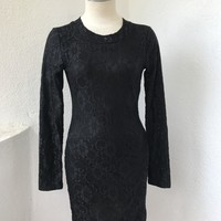 CASSIE LACE DRESS - BLACK