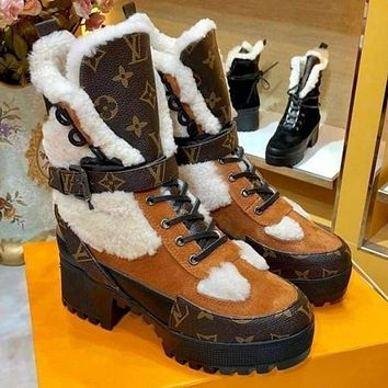 Louis Vuitton Sneakers Sport Shoes Lv Lux Fur Boots