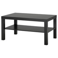 Simple Modern Coffee Table in Black / Dark Brown Wood Finish