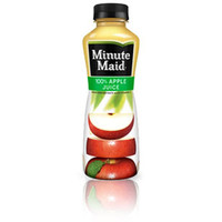 Minute Maid Apple Juice 15 oz Bottles - Case of 24