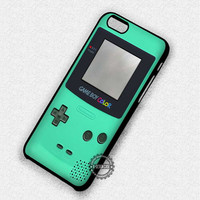 Old Playing Tool Mint Green Gameboy - iPhone 7 6 5 SE Cases & Covers