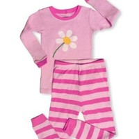 "Leveret "" Blooming Flower"" 2 Piece Pajama 100% Cotton (5 Toddler)"