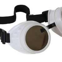 Plain White Goggles DIY Cosplay Cyber Goth Glasses
