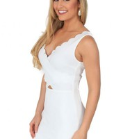 Nice Place Dress in White | Monday Dress Boutique