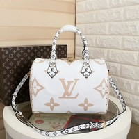 LV Women Leather Shoulder Bag Satchel Tote Bag Handbag Shopping Leather Tote Crossbody Satchel created