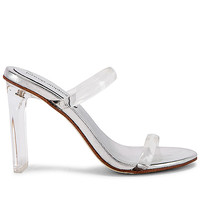 Jeffrey Campbell Serum Heel in Clear & Silver | REVOLVE