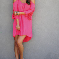 Love Me Forever Lace Dress: Raspberry   Hope's