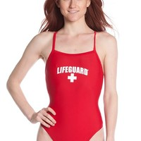 Officially Licensed LIFEGUARD® Ladies One-Piece Lycra Swimsuit