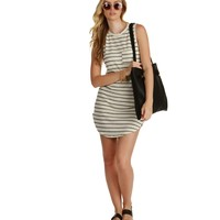 Gray Good Life Striped Tunic