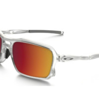 NEW Oakley - Triggerman - Sunglasses Matte Clear / Torch Iridium, OO9266-07