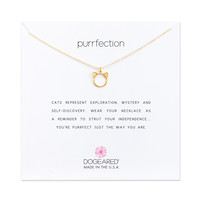 Purrfection Necklace, Gold Dipped   Dogeared