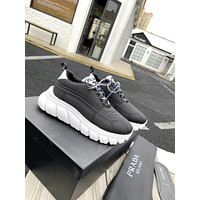 2021 PRADA Women and Men Fashion HIGH TOP WINTER Multicolor Sneakers Stitching Leisure Sneakers Sport Shoes