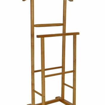 Antiqued Double  Men Suit Valet Stand with Suit Hanger by Urban Port
