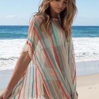 L*Space Swim - Nightfall Beach Poncho | Natural