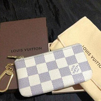 LV Louis Vuitton Fashionable Women Men Key Pouch Clutch Bag Coin Purse Small Wallet