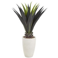Artificial Outdoor Agave Plant - White