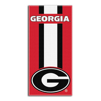 Georgia Bulldogs NCAA Zone Read Cotton Beach Towel (30in x 60in)
