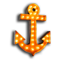 """Vintage Marquee Lights 30"""" Anchor, Signs"""