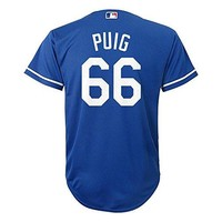 Yasiel Puig Los Angeles Dodgers Blue MLB Youth Alternate Replica Cool Base Jersey