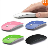 Ultra Thin USB Optical Wireless Mouse 2.4G Receiver Super Slim Mouse For Computer PC Laptop Desktop = 1669420804