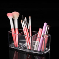 1pc lot Acrylic Makeup Organizer Cosmetic Holder Makeup Tools Storage Box Caixa Organizadora Brush and Accessory Organizer