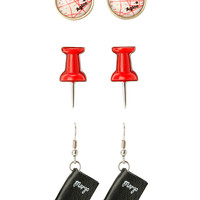 Paper Towns Earring Set 3 Pair