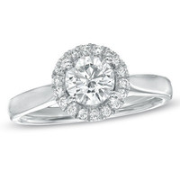 For Eternity 1 CT. T.W. Diamond Engagement Ring in 14K White Gold - View All - Zales