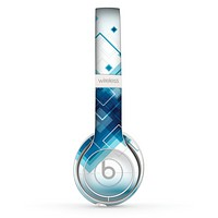 The Blue Levitating Squares Skin Set for the Beats by Dre Solo 2 Wireless Headphones
