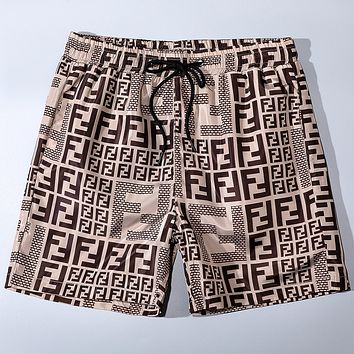 Fendi 2020 Early Spring New Printed Lettering Beach Shorts