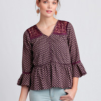 Wander The World Printed Blouse