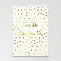 Love Me Like You Do  Stationery Cards by Laura Maria Designs
