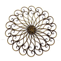 Gold Swirled Metal Wall Home Decor