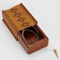 4040 Locust Leather Wrapped Stash Box- Brown One