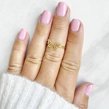 Give Me Wings Butterfly Midi Ring in Gold